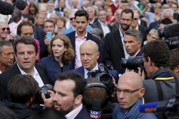 Juppe, Kosciusko-Morizet, and Solere attend the summer university camp held by Loire-Atlantique Republicans Party in La Baule