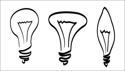 lamp scetch outline