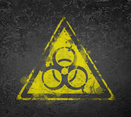 Biohazard symbol sign biological threat alert