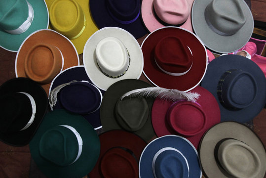 """Pachuco style"" hats are seen at the house of Jesus Gonzalez de la Rosa in Mexico City"