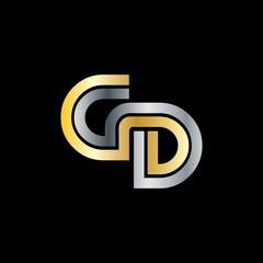Initial Letter GD Linked Design Logo
