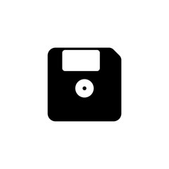 Pictogram floppy disk icon. Black icon on white background.