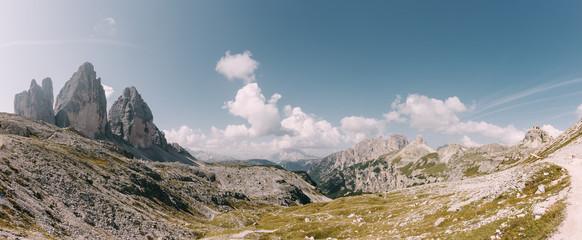 Die Drei Zinnen in den Dolomiten, Italien Fotoväggar