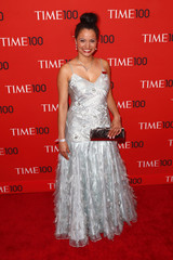 """Honoree and activist Withelma """"T"""" Ortiz Walker Pettigrew arrives at Time 100 gala celebrating magazine's naming of 100 most influential people in the world for the past year in New York"""