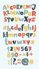 Multicolor letters set