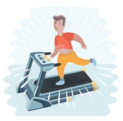 Man jogging on a treadmill