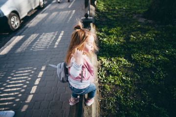 Little girl on the street