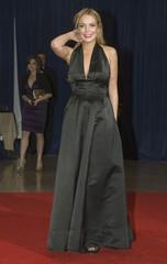 Lohan walks on the red carpet for  the annual White House Correspondents' Association Dinner at the Washington Hilton in Washington