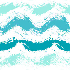Painted Sea Waves Pattern Background
