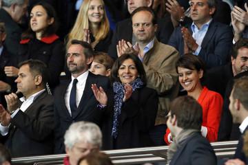 Anne Hidalgo attends the Champions League quarter-final first leg soccer match between Chelsea and Paris St Germain in Paris
