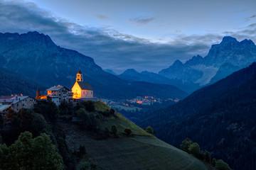 Wall Murals Buddha Dolomites, Colle Santa Lucia at sunrise, Italy