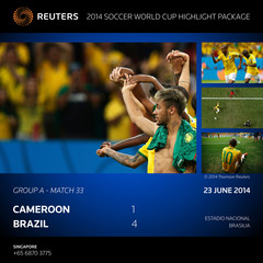 ATTENTION EDITORS  - BRAZIL 2014 WORLD CUP HIGHLIGHT PICTURE PACKAGE