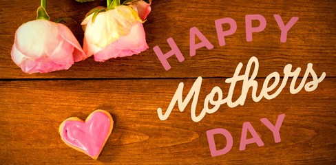 Happy mothers day message on table
