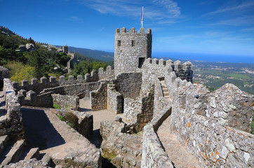 Fototapete - Moorish castle at sunny morning