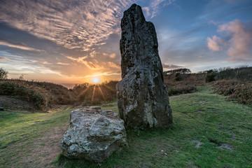 The Longstone at Sundown