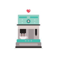 Coffee machine isolated on white background Kitchen appliance