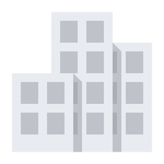 Architecture concept with three buildings, vector illustration in flat style
