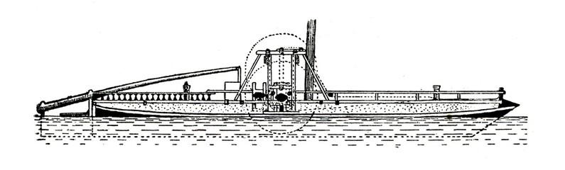 "Self-propelled vessel ""Vodohod"" by Ivan Kulibin, 1804"