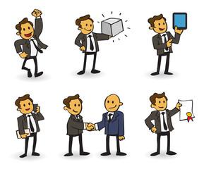 Cartoon of a successful business man