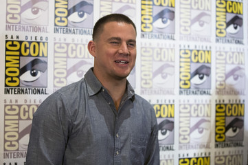 "Cast member Tatum poses at a press line for ""Book of Life"" during the 2014 Comic-Con International Convention in San Diego"