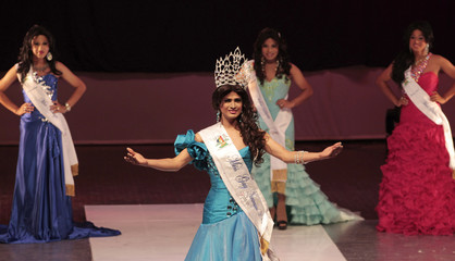 Lavyeska smiles after being crowned Miss Gay Nicaragua 2012 at the Ruben Dario National Theatre in Managua