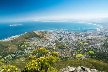 Aussicht vom Tafelberg auf Kapstadt
