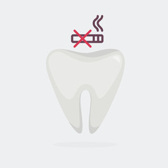 Ill tooth vector illustration