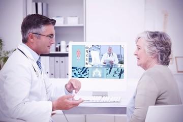 Composite image of uniformed doctor
