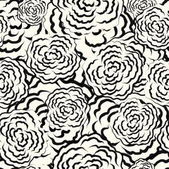 Seamless floral sketch pattern