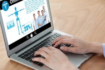 Composite image of health information online
