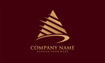 triangle gold phyramid logo