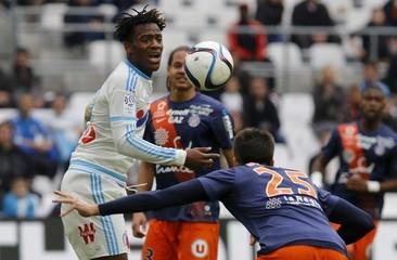 Olympique Marseille v Montpellier - French Ligue 1 - Velodrome stadium