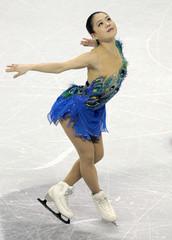 Akiko Suzuki of Japan performs during the ladies free skating at the ISU World Figure Skating Championships in London, Ontario