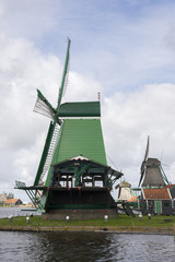 Windmills at Zaanse Schans in Holland