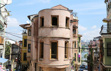 Old Buildings in Balat District, Istanbul