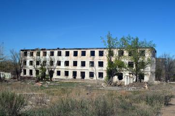 Urban decay.Sary Shagan.Kazakhstan