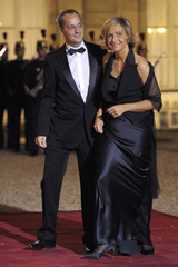 French Minister for Higher Education and Research Pecresse and her husband arrive at the Elysee to attend a state dinner