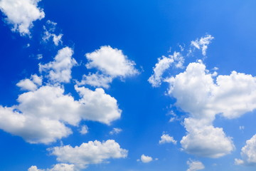 blue sky vivid with the cloud in summer art of nature beautiful and copy space for add text