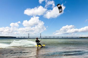 Kitesurfen auf der Ostsee in Dänemark