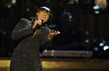 Singer Jennifer Hudson sings to Whitney Houston to honor her for receiving the BET Honors for Entertainment in Washington