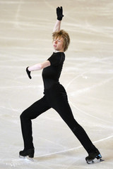 Kevin Reynolds of Canada practices during a training session before the Bompard Trophy event at Bercy in Paris