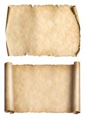 old paper parchments 3d illustration set