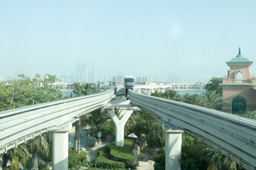 Monorail train arriving at the station