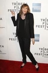 "Film festival co-founder Jane Rosenthal arrives for the premiere of ""Mistaken For Strangers"" on the opening night of the Tribeca Film Festival in New York"