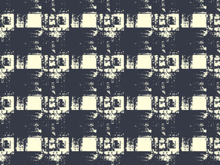 Abstract grunge vector background. Monochrome  composition of irregular repeated graphic elements.