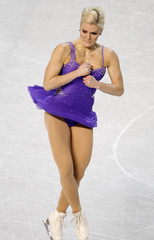 Viktoria Helgesson of Sweden performs during the ladies short program at the European Figure Skating Championships in Tallinn