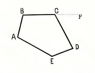 Exterior angle (DCF) of polygon