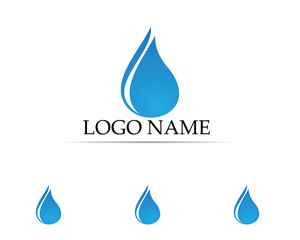 Water drops logo