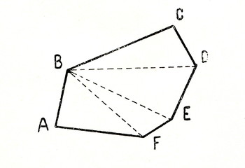 Theorem - sum of the internal angles of a convex polygon is 2d (n-2); n-edge number
