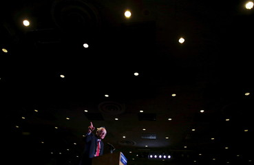 U.S. Democratic presidential candidate Bernie Sanders speaks at a campaign rally in Reno